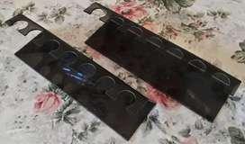 Porta Sello Acrilico Color Negro Para 7 Sellos