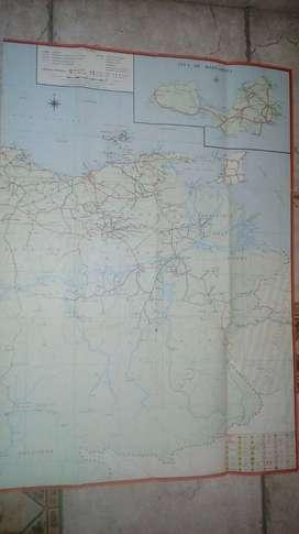 Plano Rallymapa de carreteras de Venezuela - Años setenta