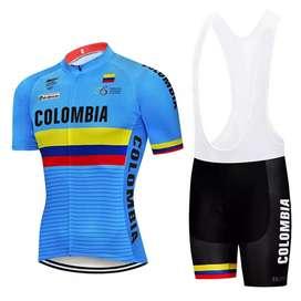 Uniforme de ciclismo corto talla M