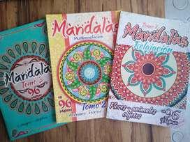 PAQUETE Mandalas para colorear x3 libros