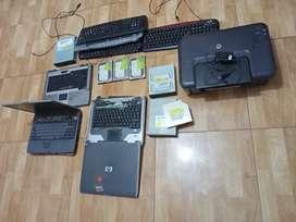 3 Teclado, 3 unidad de dvd  ,3 disco duro impresora hp laptops , 3 laptops llévate este super combo para repuestos