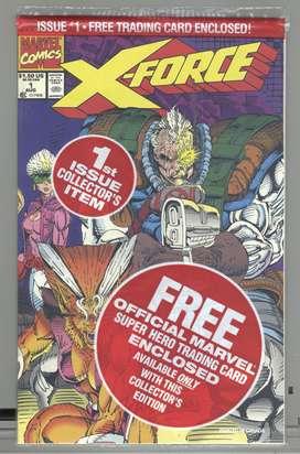 Conjunto de Revistas(comics) de X-Force #s 1 - 7, 1991, en inglés