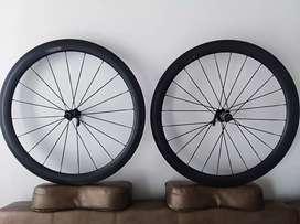 Ruedas de Carbono bicicleta ruta 700 perfil 50