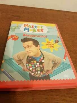 DVD para hacer ARTE para niños MISTER MAKER.