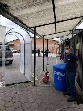Cabina de fumigación y desinfección automática