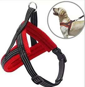 Arnes rojo negro para perro pequeño