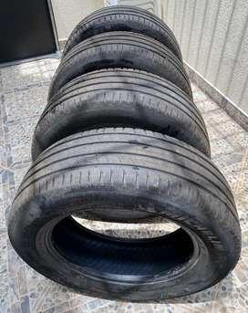 Se venden 4 llantas marca Michelin referencia 245/60 R18  DOT1618 como nuevas nunca pinchadas con solo 20.000 km de uso