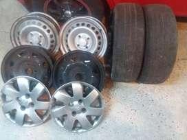 Aros de acero 4 huecos Rin 14 para carros hyundai getz, accent, I10 y grand I 10.