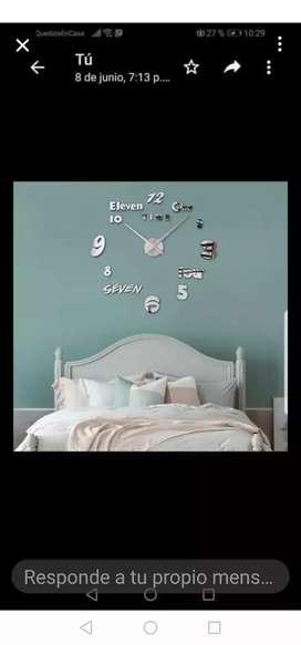 Reloj 3d adhesivo