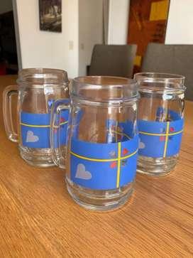 Vasos cerveceros - 4 unidades - perfecto estado