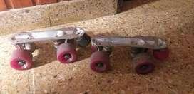 Patines profesionales - Base con ruedas para botas numero 36/37