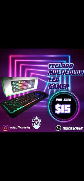 TECLADO M300 LUCES LED