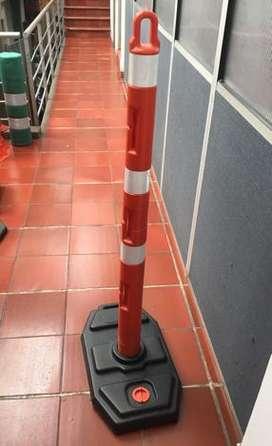 Delineador Tubular Para Cerramiento De Obras