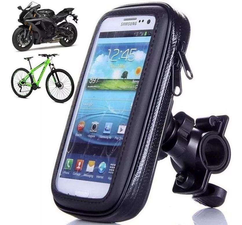 Estuche Soporte Holder Celular Gps Impermeable Moto Tactil 0