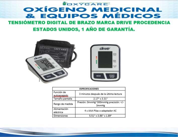 Tensiómetro Digital De Brazo Drive Americano Con Garantía 0