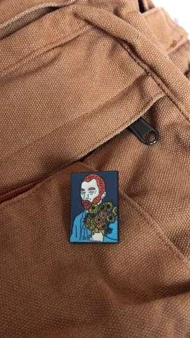 Pin retrato Van Gogh