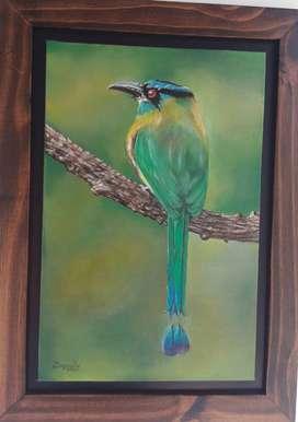 Pintura original al oleo del BARRANQUERO
