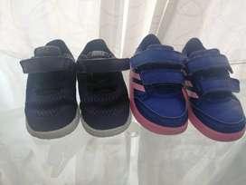 Vendo zapatillas niña Nike yAdidas.
