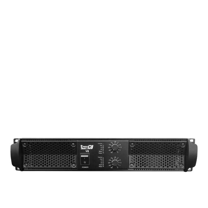 Amplificador Pro dj V6 potencia audio clase H 2400w 0