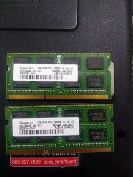 Memoria ddr3 de 2gb 2Rx8 Pc3 10600S Kingston