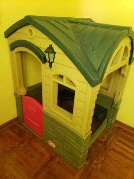 Casa de Juguete Little Tikes con resbaladera