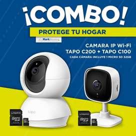 COMBO Cámaras Wi-Fi TapoC200 - TapoC100