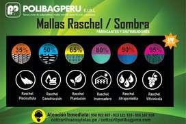 MALLA RASCHEL / SOMBRA 35%, 50%, 65%, 80%, 90% Y 95%