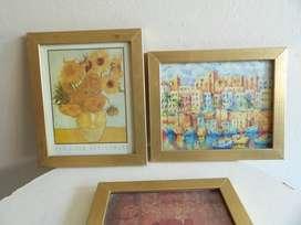 cuadros de pinturas clasicas 300 pesos los tres