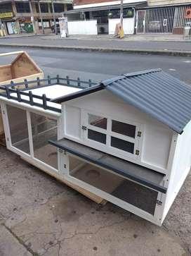Casa jaula para conejo