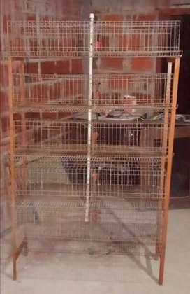 Jaula para codornices y pollos