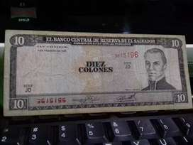 Billete de 10 colones de 1996