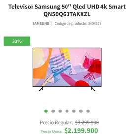 Remato TV Samsung Qled 50' Nuevo
