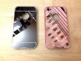 Funda Espejo Marco Metal Tapa Acrilica iPhone 4,4s