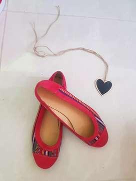 Zapatos baleta rojo