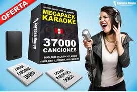 Sistema Karaoke Pro Sonido Real 37,000 Canciones + Listado + Actuales