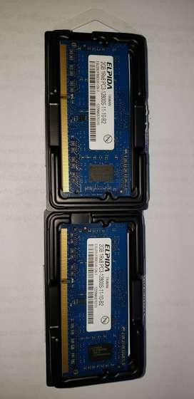 Memoria para Notebook Elpida 2GB DDR3 1600 MHz