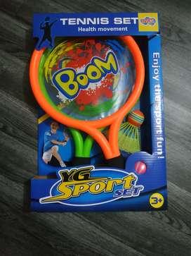 Juego de raqueta. Set de tennis juego