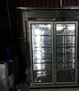 Vertical 1 puerta solo frío nueva en acero