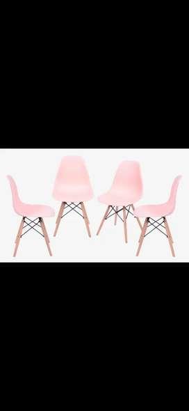 Set sillas eames Salmón