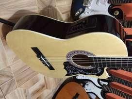 que gran guitarra freeman electro acustica cuerdas de nylon