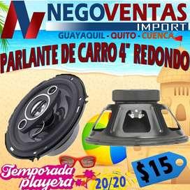 """PARLANTE DE CARRO 4"""" REDONDO"""
