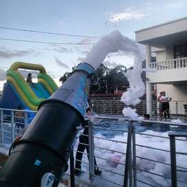 Cañon de espuma, fiestas de espuma, foam party, piscinadas, swimming pools, inflables de piscina, deslizadores de espuma