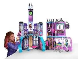 Fisher Price Monster High Escuela Casa Mansion De Lujo No Barbie