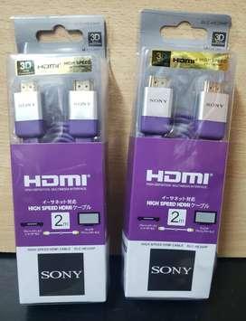 Cable original HDMI Sony blister NUEVO 2 Mtr  Premium