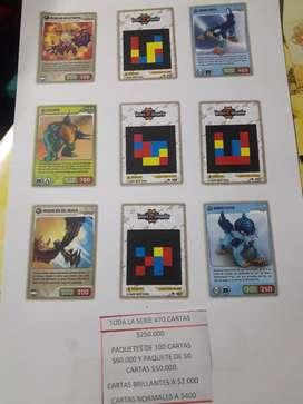 Cartas Invizimals Coleccion completa (CARTAS 100% ORIGINALES)