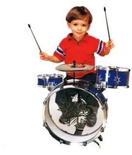 Batería Musical Big Bang 5 Tambores Y Silla Juguete Niños  3 opiniones