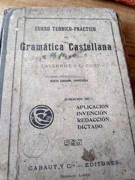Libro de gramática antiguo año 1914