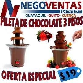 PILETA DE CHOCOLATE DE 3 PISOS