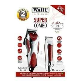 Wahl Combo Magic Clip Cordless 5-star T Blade Detailer Roja Envio Inmediato