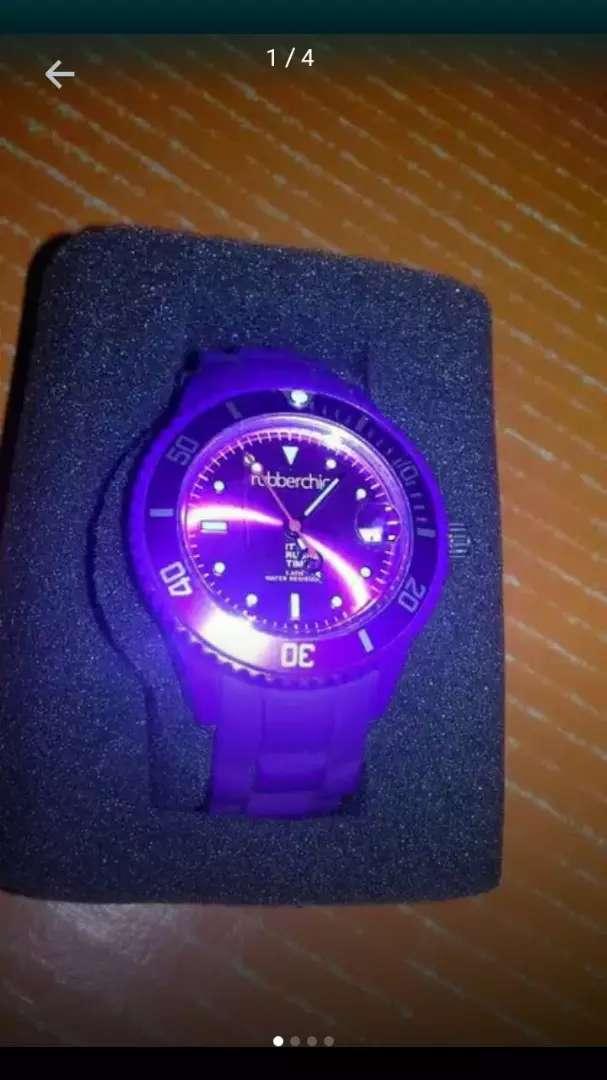 Reloj Rubberchic Basic Violeta NUEVO 0